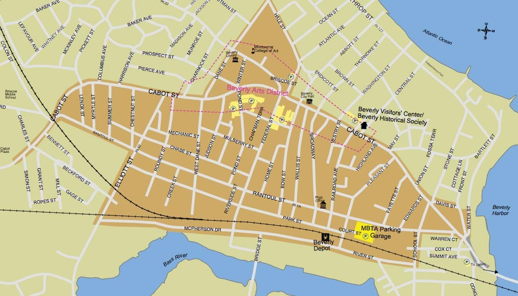 Beverly Main Streets Map